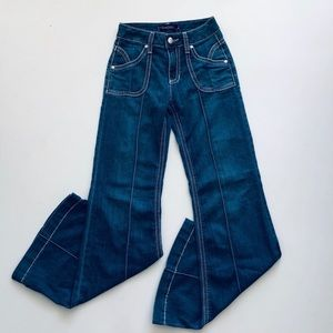 Cache High Rise Flare Stretch Jeans